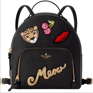 Nwt Kate spade Leopard Tomi backpack